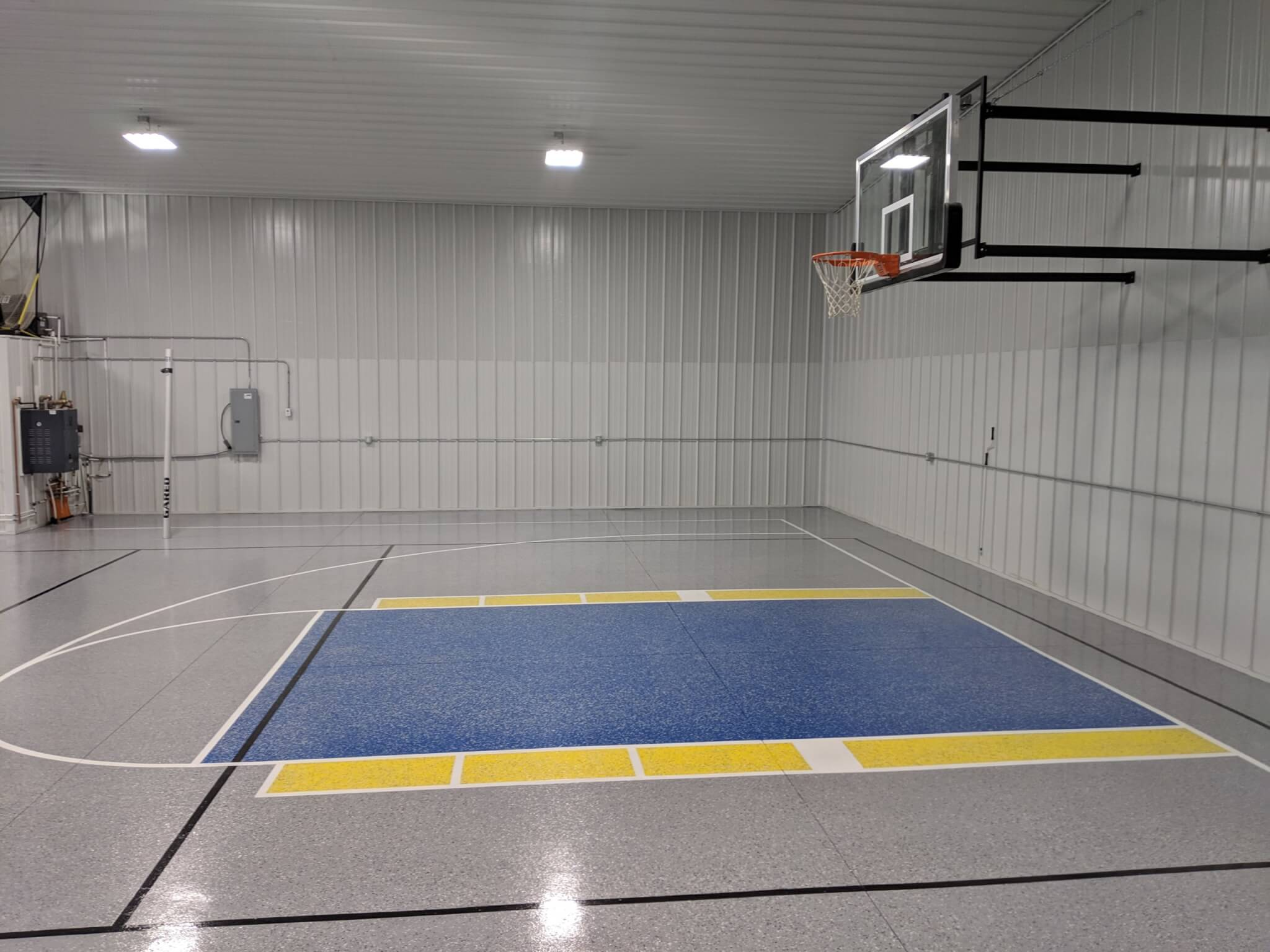 Complete Epoxy Flooring with Basketball and Volley Ball Courts