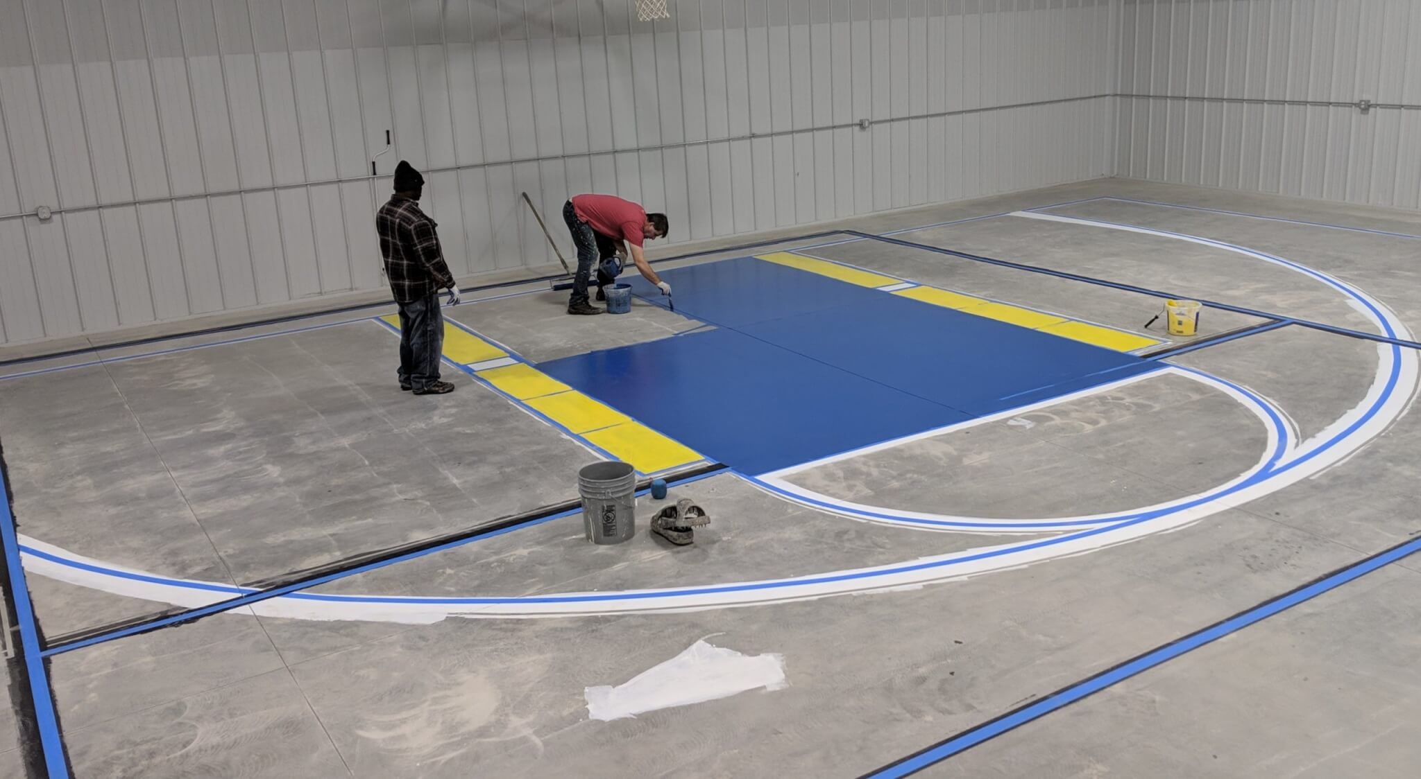 Prepping Court for Epoxy Flooring