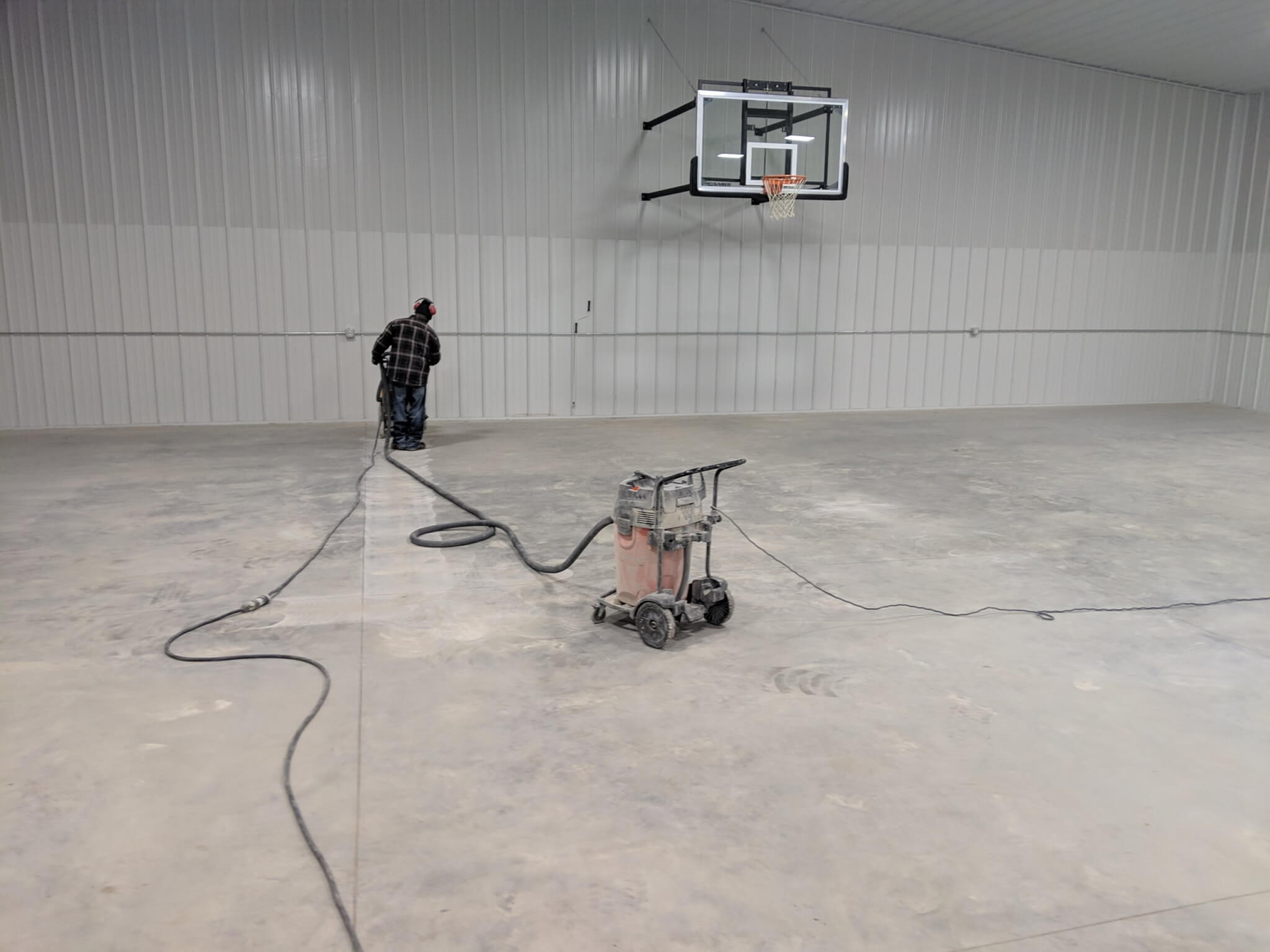 Prepping for Epoxy Flooring