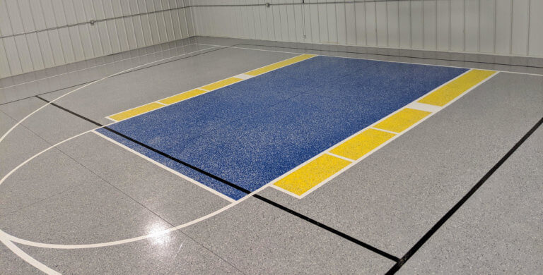 51246 Rock Rapids, IA | Epoxy Flooring Basketball and Volleyball Court