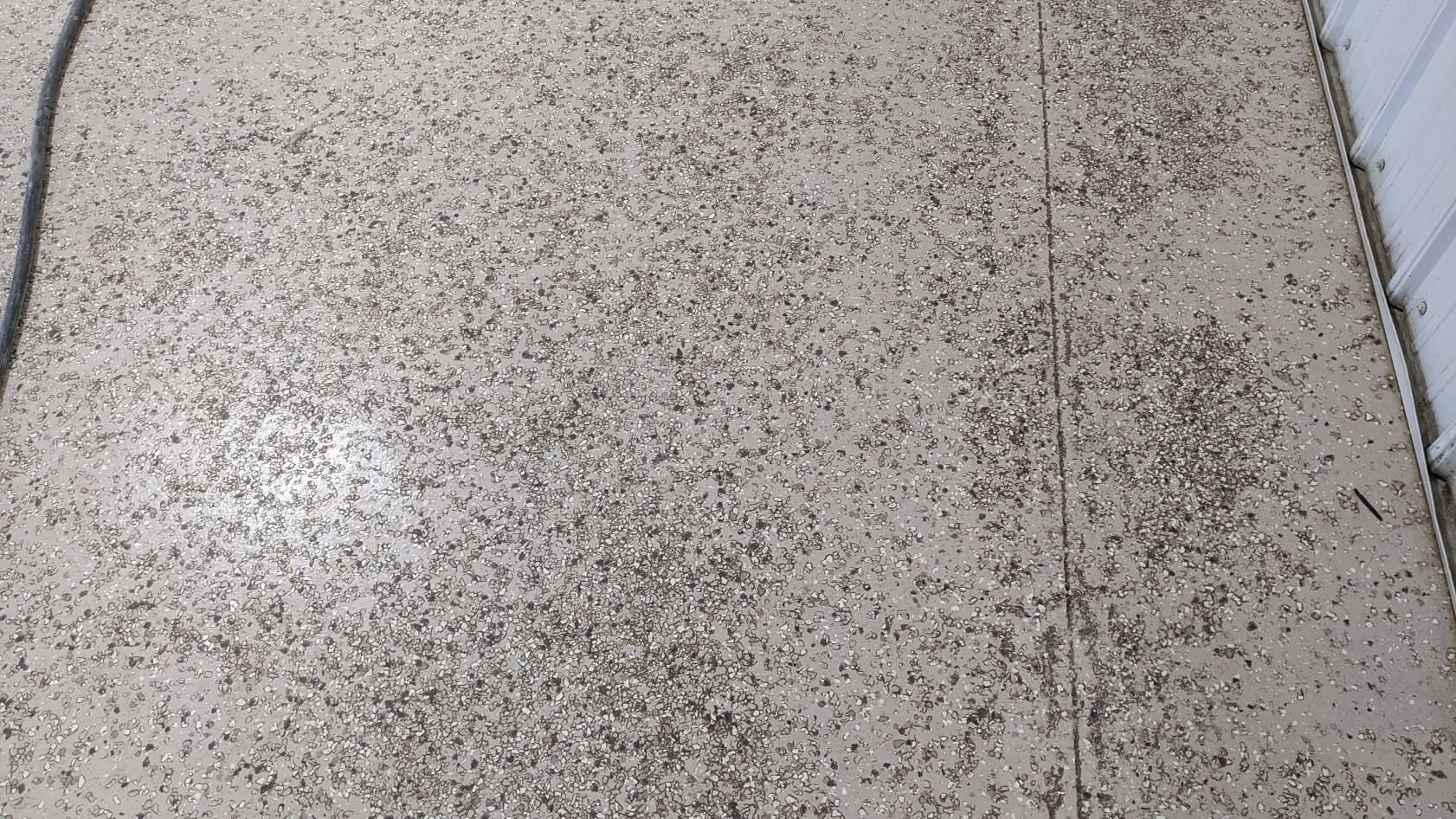 before epoxy flooring redo