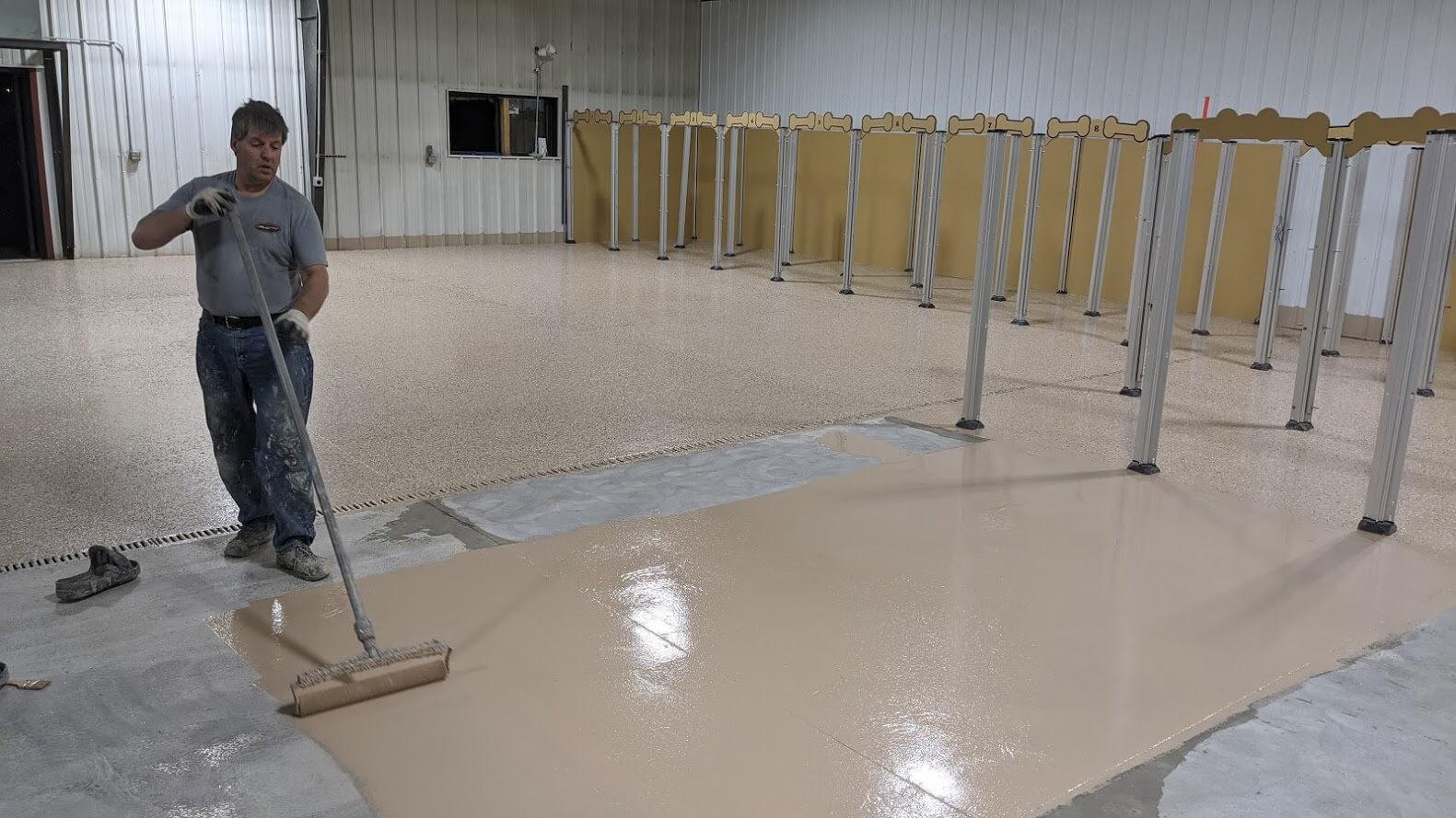 epoxy flooring application