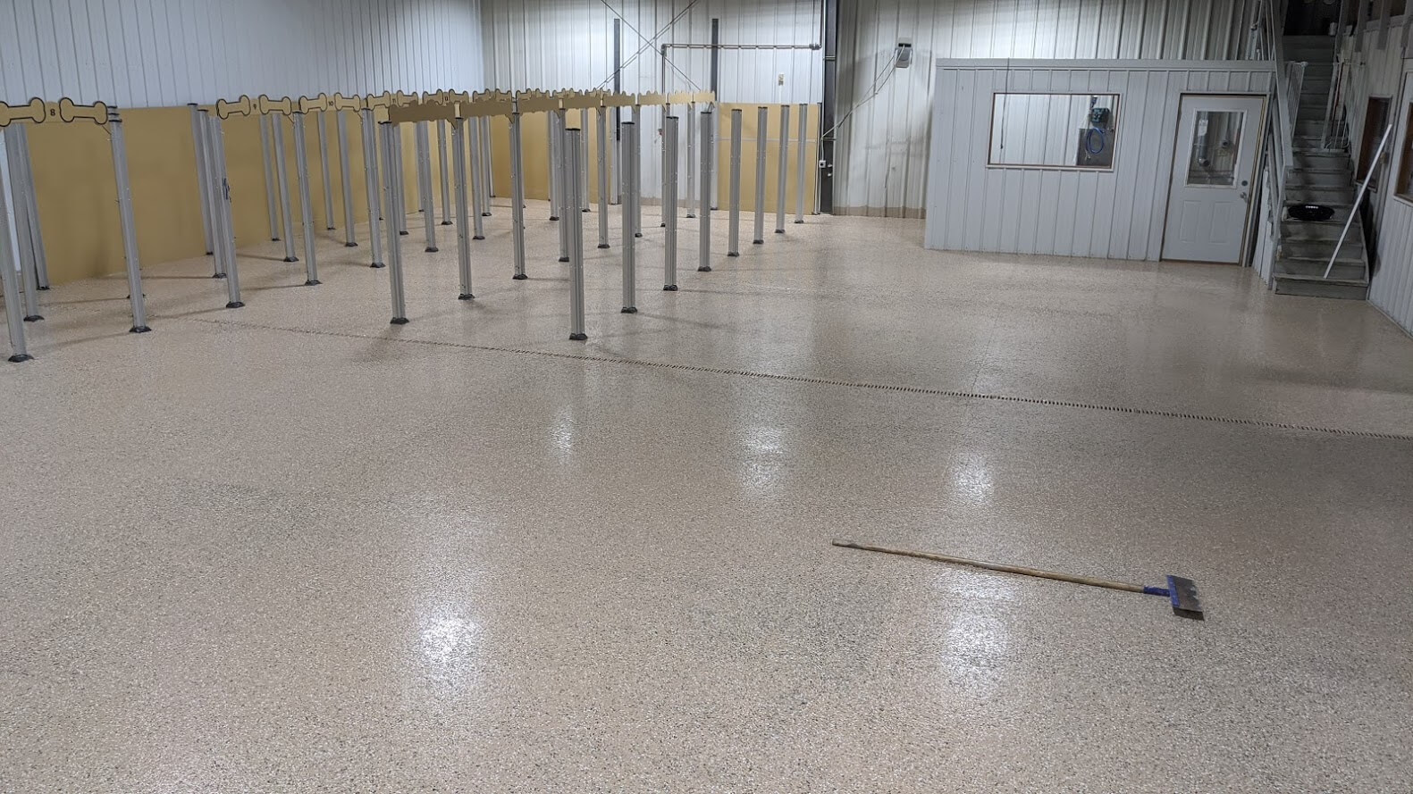Finished epoxy flooring at Red Hydrant.