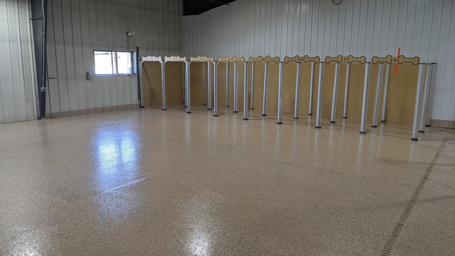 Finished epoxy flooring