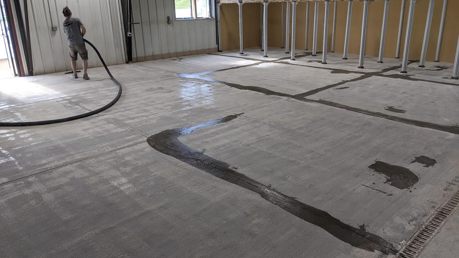 epoxy flooring prep.